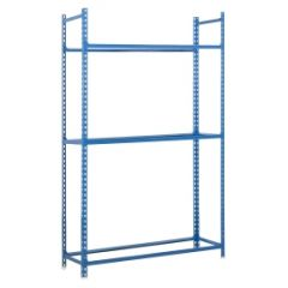 Estanteria ordenacion 3 baldas sin tornillos para ruedas 120kg 2000x1000x400mm metal azul simonauto - autoclick simonrack 447100234201043