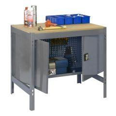 Banco trabajo 1 balda sin tornillos 842x1210x760mm metal gris oscuro/madera simonrack 338100213001200
