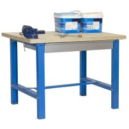 Banco trabajo 1 balda con tornillos 865x1500x750mm metal azul/madera simonrack 448109218841571