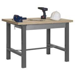 Banco trabajo 1 balda con tornillos 865x1800x750mm metal gris oscuro/madera simonrack 338109218841871