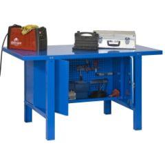 Banco trabajo 1 balda con tornillos 830x1200x730mm metal azul simonrack 444100218001200