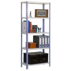Estanteria ordenacion 5 baldas con tornillos 1800x800x300mm metal violeta/blanco simonrack v02100204188035