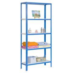 Estanteria ordenacion 5 baldas sin tornillos 1800x800x400mm metal azul/blanco simonrack 442100209188045