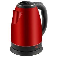Hervidor cocina agua 1500w 2lt acero inox rojo kuken