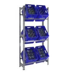 Estanteria ordenacion 3 baldas sin tornillos 1800x800x300mm metal gris oscuro simonrack 330100024188033