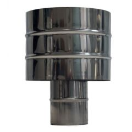 Antirrevocante estufa pellet ø80mm acero inox exojo pitera080