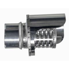 Terminal estufa pellet horizontal ø80mm acero inox antilluvia exojo piterha080