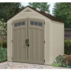Caseta ordenacion 255x310x261cm doble puerta suncast resina gris claro bms8002 b