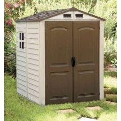 Caseta ordenacion doble puerta 190x190x213cm duramax beige/marron storemate 6x6  30411