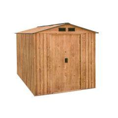 Caseta ordenacion doble puerta 261x182x203cm imitacion madera artemisa duramax