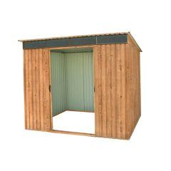 Caseta ordenacion 264x184x202cm imitacion madera pent roof 8x6 duramax