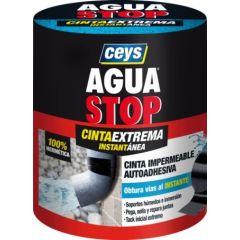 Cinta adhesiva fugas y grietas 100mmx1,5mt negro aguastop impermeable ceys 902809