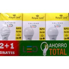 Lampara iluminacion estandar led royal led e27 13w 1300lm 3000k 111630