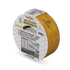 Cinta adhesiva señalizacion 50mmx 25mt amarilla automocion retroreflectante target cra2550h