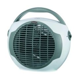 Calefactor electrico vertical termostato 1000/2000w blanco/gris vivahogar