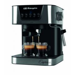 Cafetera electrica expres 20 bar automatica 1,5lt inox orbegozo 1 ud ex 6000