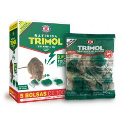 Raticida cebo fresco 500 gr trimol