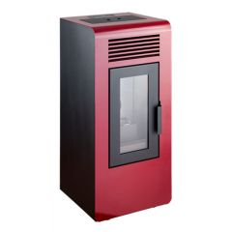 Estufa pellet 48x45x94cm 5,9 kw qlima rojo pellet stove eco 170