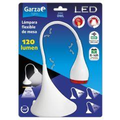 Lampara 120lm usb/pilas flexible garza 130x130x220mm 401234
