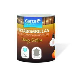 Portabombilla e27 cable textil garza 110x110x125mm 401838
