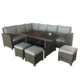 Mueble jardin natuur ratan gris claro huatulco esquinero 3 taburetes nt132734 1