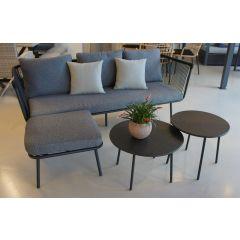 Mueble jardin 193x72x75 sofa natuur acero/textileno gris sanjo 2 mesas puff nt13
