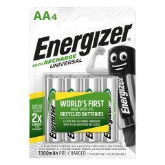 Pila aa recargable 4ud 80x15x120mm aa bl4 energizer e301376001