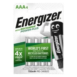 Pila aaa recargable 4ud 80x11x114mm hr03 bl4 br energizer e300626601