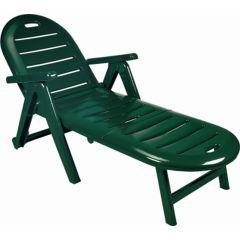 Tumbona jardin reclinable 4 posiciones con brazo resina verde caiman shaf