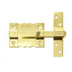Pasador sobreponer sin llave 120x25mm acero dorado 8 interfer