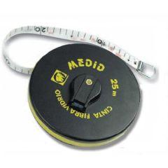 Cinta metrica 25mt-15,0mm medid fibra vidrio estuche abs 1210-25-gf