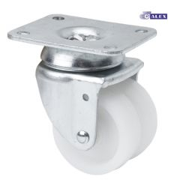 Rueda giratoria platina 70x55mm 090kg cojinete liso 050mm polipropileno blanco ruedas alex 2-0039