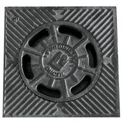 Sumidero evacuacion agua campana 250x250mm hierro fundido negro fundiniesta