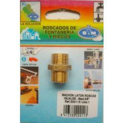 "Contrarrosca fontaneria roscas iguales m-m 3/8"" laton s&m 200113"