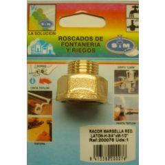 "Racor fontaneria h-m 3/4""x1/2"" laton s&m redondo 200076"