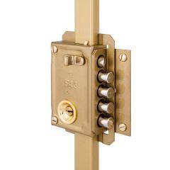 Cerradura seguridad sobreponer picaporte y 4 pasadores derecha bombillo 50mm 3 puntos cierre pintado fac 11033