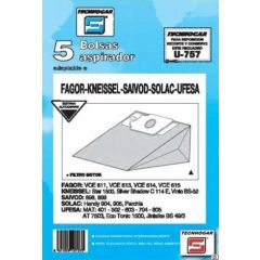 Bolsa aspirador papel ufesa at4503 tecnhogar 5 pz 910757
