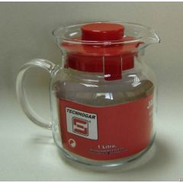 Jarra microondas estándar 1,0lt vidrio tecnhogar