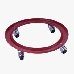 Soporte bombona  butano 4 ruedas giratorias hasta 30kg ø 30cm plastico rojo vicr