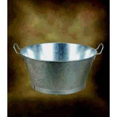 "Barreño agua redondo con asas 16"" metal galvanizado manuel soler 01110016"