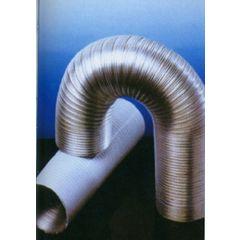 Tubo extraccion aire compacto 100mmx5mt aluminio blanco alu espir espiroflex 5 mt 02310100420