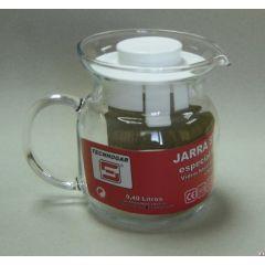 Jarra microondas estándar 0,4lt vidrio tecnhogar