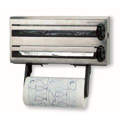 Portarrollo cocina triple acero inox lacor 60701
