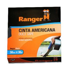 Cinta adhesiva americana 50mmx 30mt gris ranger 10720