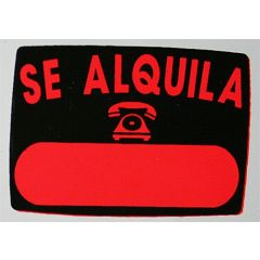 Cartel señalizacion se alquila radiante 50x70cm glasspack super-letra sl