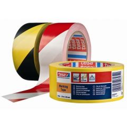 Cinta adhesiva señalizacion 50mmx 33mt pvc rojo/blanco tesa tape 60760-00088-01