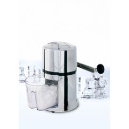 Picadora hielo manual con manivela cuchillas inox 1,0lt-17x17x23cm boj