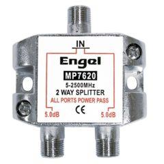Distribuidor antena 1 entrada 2 salidas coaxial engel axil 5db mp-7620e