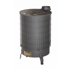 Estufa leña mixta 15kw salida vertical 120mm 670x430x240mm negro theca 6500074