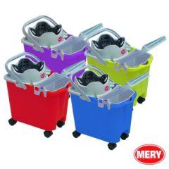 Cubo agua escurridor automatico rectangular con cubito 14 lt mery 335